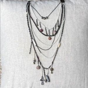 Anthropologie multi layered necklace